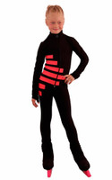 IceDress Figure Skating Outfit - Thermal - IceCode (Black with Coral)