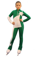 IceDress Figure Skating Outfit - Thermal - Space (Green with White)