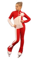 IceDress Figure Skating Outfit - Thermal - Space (Red with White)