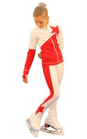 IceDress Figure Skating Outfit - Thermal - Space (White with Red)