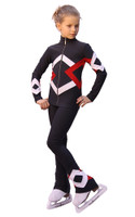 IceDress Figure Skating Outfit - Thermal - Bauer (Dark gray, Red and White)