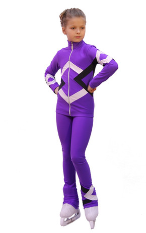 IceDress Figure Skating Outfit - Thermal - Bauer (Purple, Black and White)