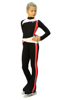IceDress - Figure Skating Training Overalls  - Skating (Black, Coral and White )