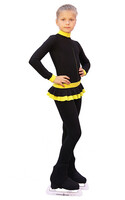 IceDress - Figure Skating Training Overalls  - Valley (Black with Yellow)