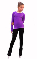 IceDress - Figure Skating Longsleeve (Purple with White)