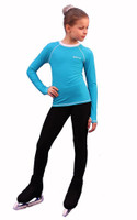 IceDress - Figure Skating Longsleeve (Turquoise with White)