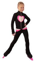 IceDress Figure Skating Outfit - Thermal - Tutti Frutti(Black, Hot Pink, White)