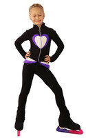 IceDress Figure Skating Outfit - Thermal - Tutti Frutti(Black, Purple, White)