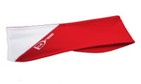 """IceDress - Two Color Thermal Figure Skating Headband  """"IceDress- Sport"""" (White and Red)"""