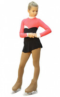 IceDress Figure Skating Dress - Thermal - Todes (Coral, Black and White)