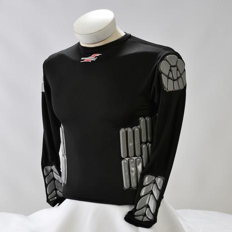 Zoombang Shirt 6 Piece Padded Motor Cross Shirt, Black