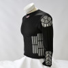 Zoombang Shirt 6 Piece Padded Motor Cross Shirt, Black 2nd view