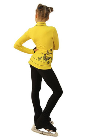 IceDress Figure Skating Outfit - Thermal - Flying (Yellow with Black) 2nd view
