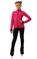 IceDress Figure Skating Outfit - Thermal - Flying (Raspberry with Black)