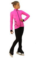IceDress Figure Skating Outfit - Thermal - Flying (Hot Pink with Black)