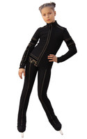 IceDress Figure Skating Outfit - Thermal - Glamour (Black) 3rd view