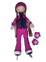 Tilda Doll by IceDress- Figure Skater - Jump Outfit  (Fuchsia)