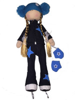 Tilda Doll by IceDress- Figure Skater - Star Outfit  with Pants (Black)