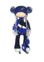 Tilda Doll by IceDress- Figure Skater - Split Outfit  (Cornflower)