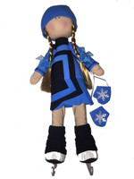 Tilda Doll by IceDress- Figure Skater - Avangard dress (Blue)