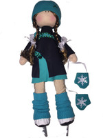 Tilda Doll by IceDress- Figure Skater - Lasso dress (Mint)