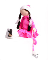 Tilda Doll by IceDress- Figure Skater - Serpentine (Hot Pink with Lycra)
