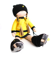 Tilda Doll by IceDress- Figure Skater - Icesport (Yellow with Black)