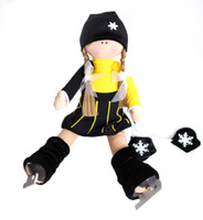 Tilda Doll by IceDress- Figure Skater - Icefashion (Black and Yellow)