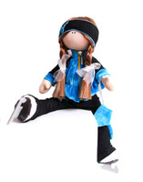 Tilda Doll by IceDress- Figure Skater - Velvet Butterfly with Vest (Blue)