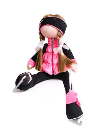 Tilda Doll by IceDress- Figure Skater - Velvet Butterfly with Vest (Coral)