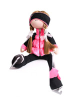 Tilda Doll by IceDress- Figure Skater - Velvet Butterfly with Vest (Coral)