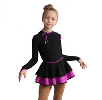 IceDress Figure Skating Dress - Thermal - Duet (Black with Purple)