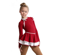 IceDress Figure Skating Dress - Thermal - Duet (Burgundy with Black)