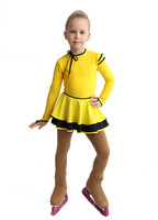 IceDress Figure Skating Dress - Thermal - Duet (Yellow with Black)