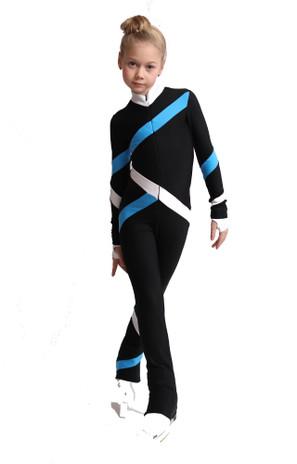 IceDress Figure Skating Overalls - Thermal - Quad (Black, Blue, White)