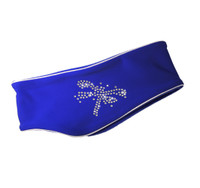 "IceDress - Thermal Figure Skating Headband ""Shine"" with Rhinestones (Cornflower )"