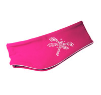 "IceDress - Thermal Figure Skating Headband ""Shine"" with Rhinestones (Fuchsia)"