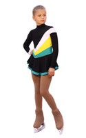 IceDress Figure Skating Dress - Thermal - Camel Spin (White, Yellow, Mint) 3rd view