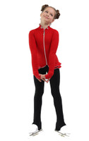 IceDress Figure Skating Outfit - Thermal - Minx (Red, White, Black)