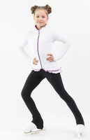 IceDress Figure Skating Outfit - Thermal - Minx (White, Purple, Black)