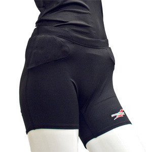 Zoombang Female Volleyball Shorts ZB-With Pelvic, Hip, and TB Pads Youth Black
