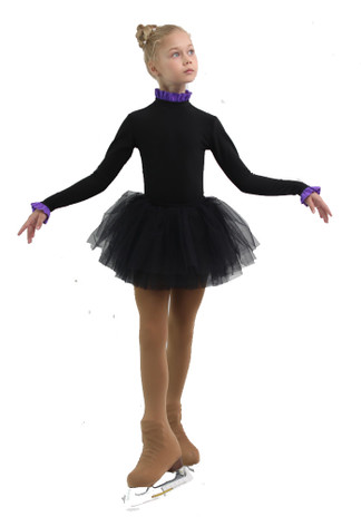 IceDress - Thermal Body  (Black with Purple Flounce)