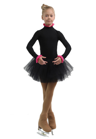 IceDress - Thermal Body  (Black with Pink Flounce)