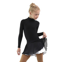 IceDress - Figure Skating Skirts - Harmony (Black with White )