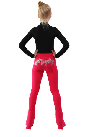 IceDress - Thermal Pants - Crystal Butterflies (Raspberry)