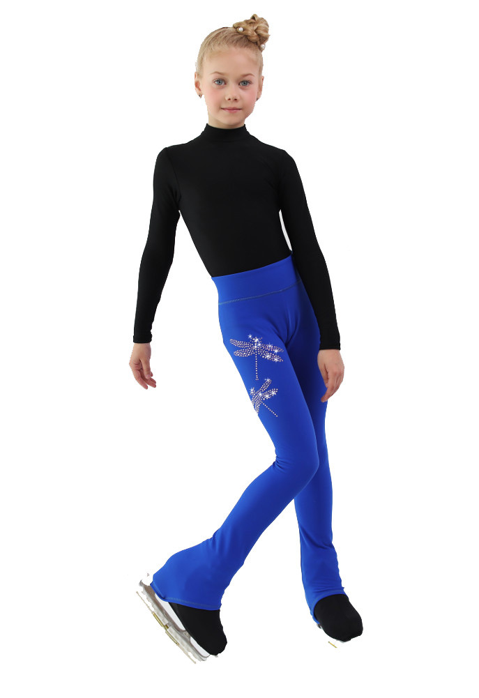 Split IceDress Figure Skating Outfit Cornflower Blue