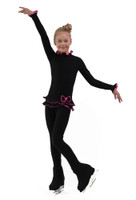 IceDress Figure Skating Outfit - Thermal - Minx (Black with Hot Pink)