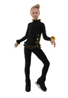 IceDress Figure Skating Outfit - Thermal - Minx (Black with Yellow)