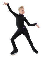 IceDress Figure Skating Outfit - Thermal - Minx (Black with Purple)