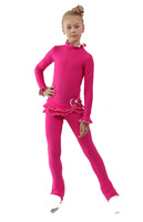 IceDress Figure Skating Outfit - Thermal - Minx (Fuchsia with White)